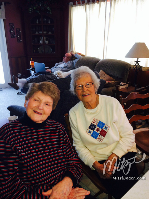 Our amazing and very esteemed ladies..my mom and Aunt Margie