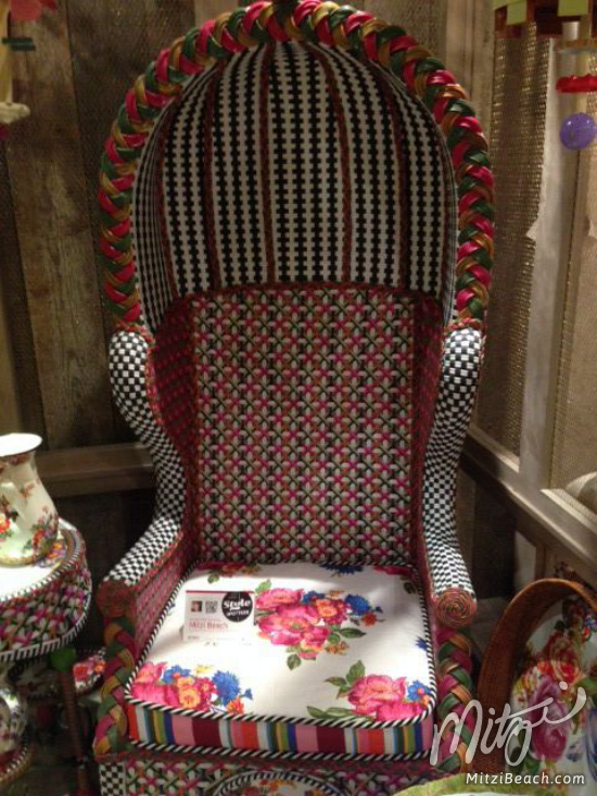 MacKenzie-Childs Flower Market chair