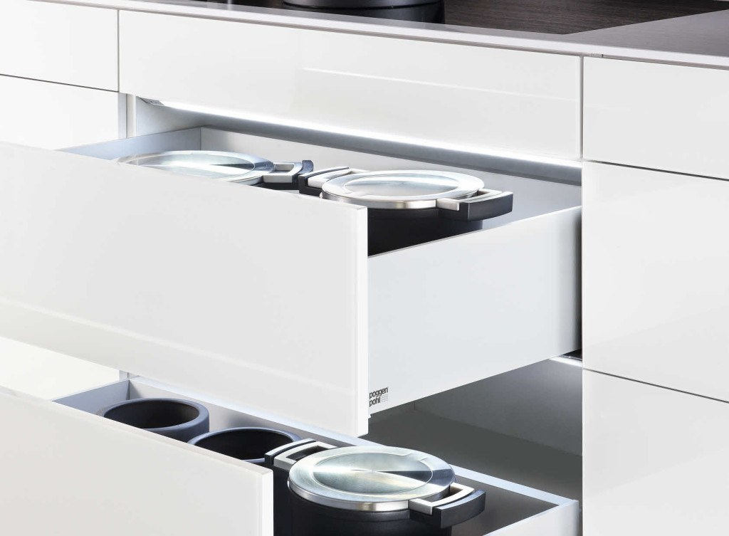 Interior lighting system for drawers