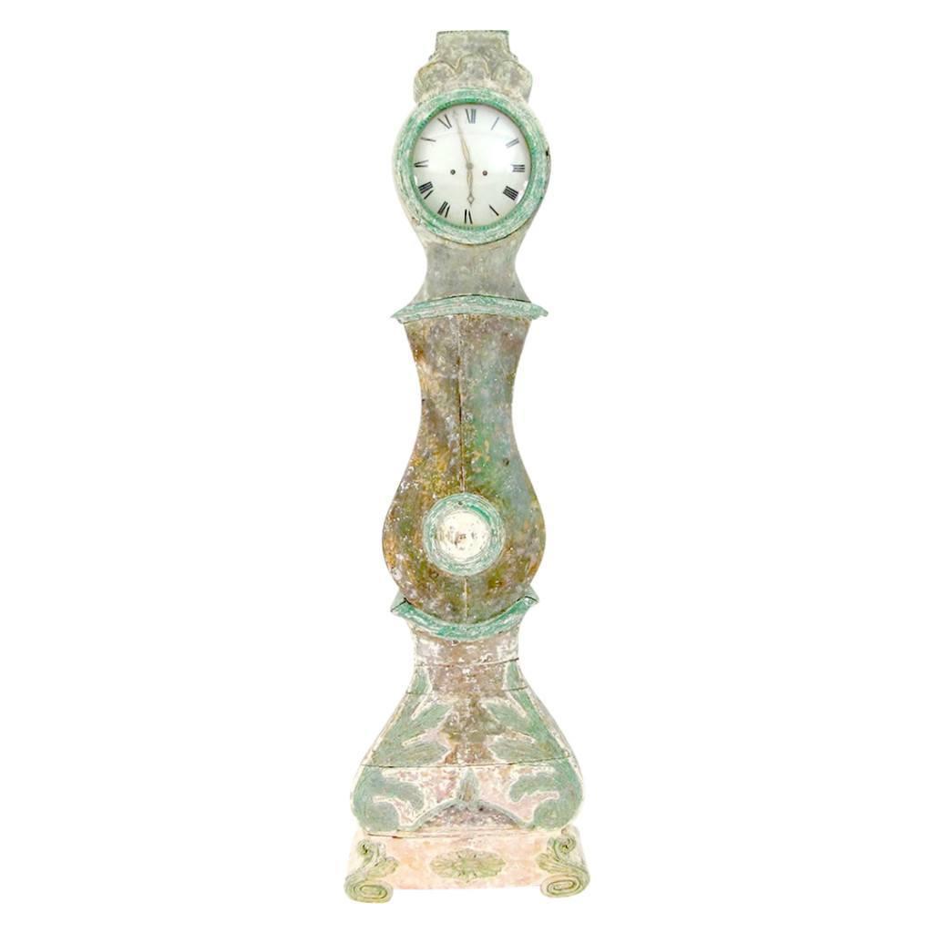 Swedish Morin Rococo Period Tall Case Clock