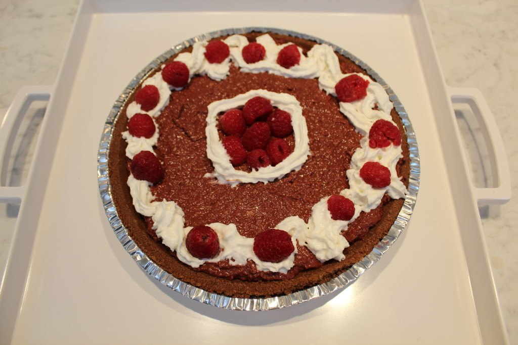 I'd have to make my raspberry chocolate truffle pie for dessert!